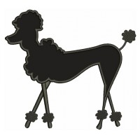Poodle Dog Applique Machine Embroidery Digitized Design Pattern