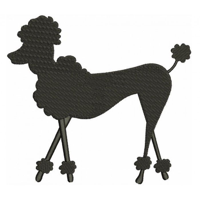 Poodle Dog Filled Machine Embroidery Digitized Design Pattern