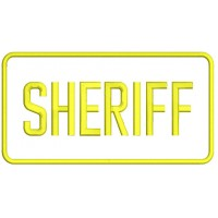 Sheriff Filled Machine Embroidery Digitized Design Pattern
