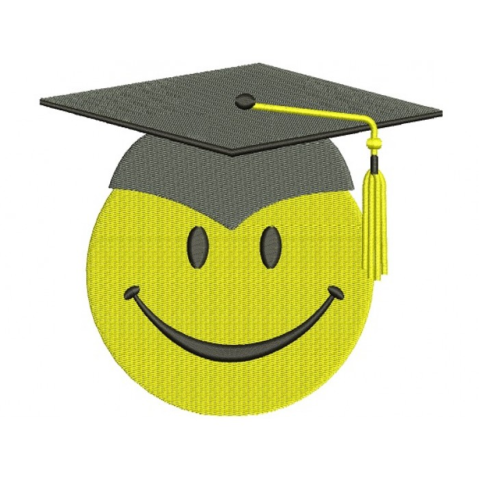 Smiley Face Graduation Filled Machine Embroidery Digitized Design Pattern