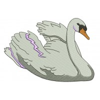 Swan Filled Machine Embroidery Digitized Design Pattern