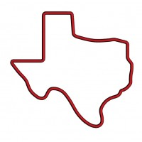Texas State Applique Machine Embroidery Digitized Design Pattern