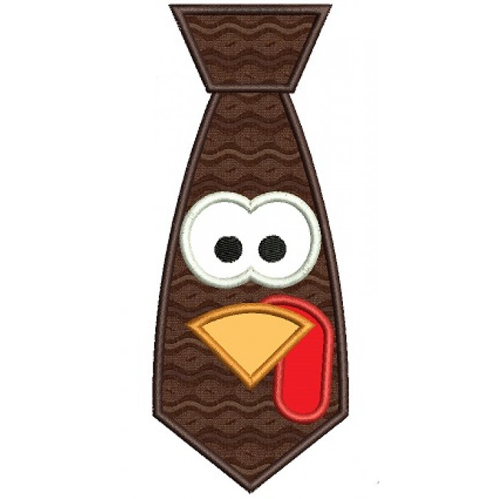 Turkey Tie Applique Machine Embroidery Digitized Design Pattern