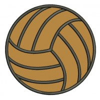 Volleyball Sports Applique Machine Embroidery Digitized Design Pattern