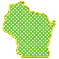 Wisconsin State Applique Machine Embroidery Digitized Design Pattern