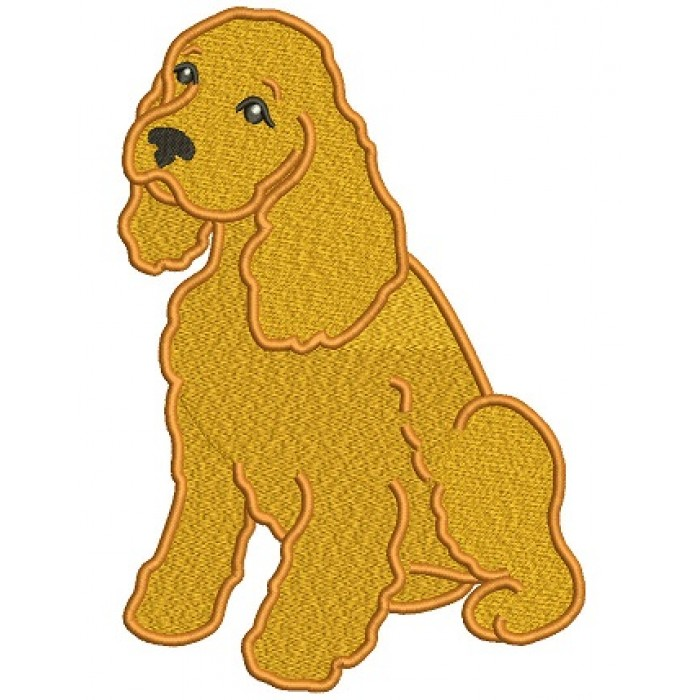 Cocker Spaniel Filled Machine Embroidery Digitized Design Pattern