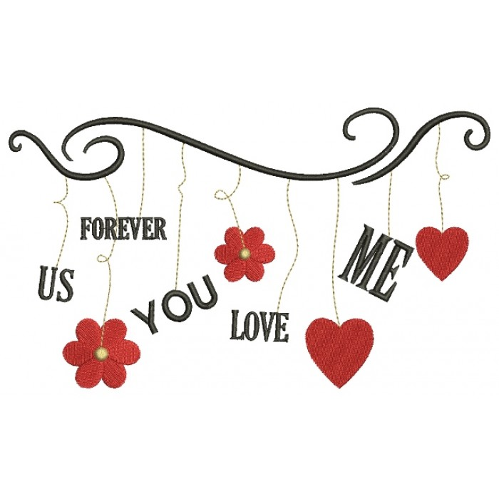 Love Forever Filled Machine Embroidery Digitized Design Pattern