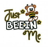 Just Beein Me Bear Bee Applique Machine Embroidery Digitized Design Pattern