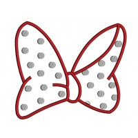 Looks Like a Minnie Mouse Bow Applique Machine Embroidery Digitized Design Pattern