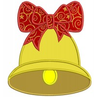 Big Bell Applique Machine Embroidery Digitized Design Christmas Pattern
