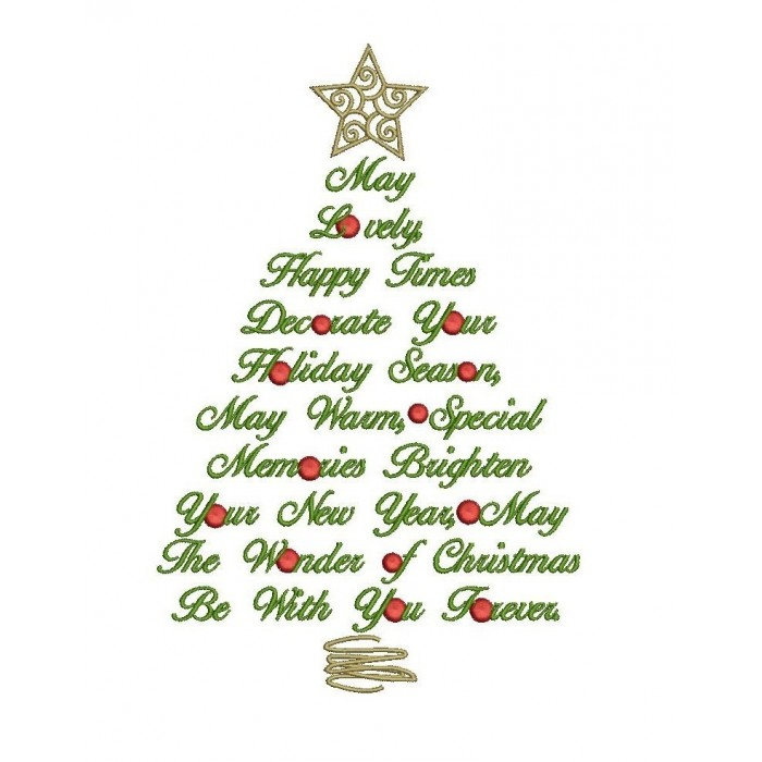 Big Christmas Tree Filled Machine Embroidery Digitized Design Pattern