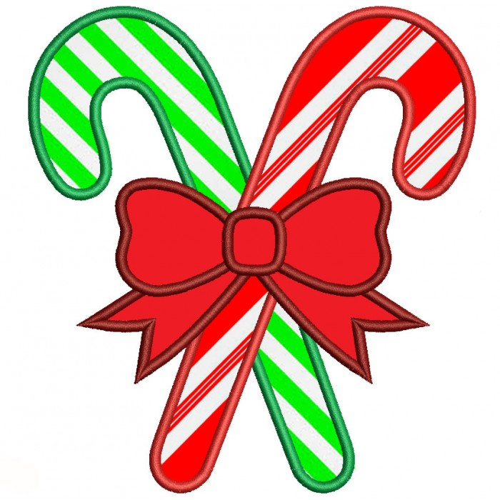 candy cane christmas applique machine embroidery digitized design