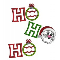 Ho Ho Ho Christmas Applique Machine Embroidery Digitized Design Pattern