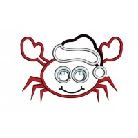 Little Crab Christmas Applique Machine Embroidery Digitized Design Pattern
