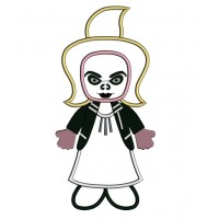 Looks Like Bride of Chucky Horror Applique Machine Embroidery Digitized Design Pattern