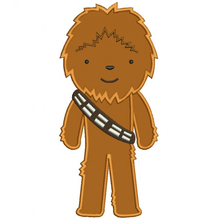 Looks Like Chubaka From Star Wars Applique Machine Embroidery Digitized Design Pattern