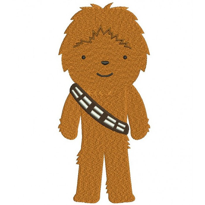 Looks Like Chubaka From Star Wars Filled Machine Embroidery Digitized Design Pattern