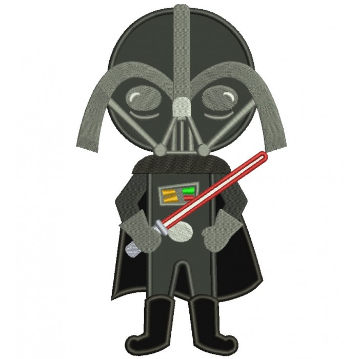 Looks Like Darth Vader From Star Wars Applique Machine Embroidery Digitized Design Pattern