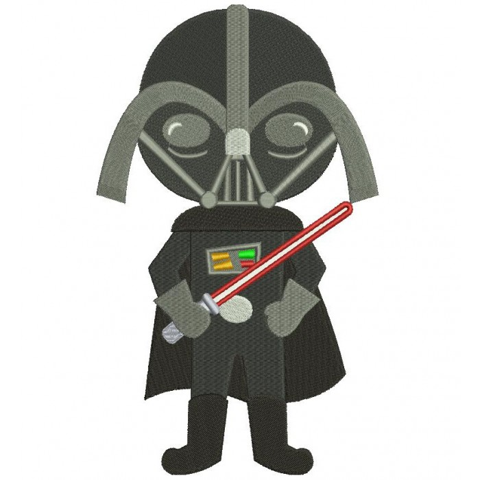 Looks Like Darth Vader From Star Wars Filled Machine Embroidery Digitized Design Pattern