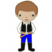Looks Like Han Solo From Star Wars Applique Machine Embroidery Digitized Design Pattern