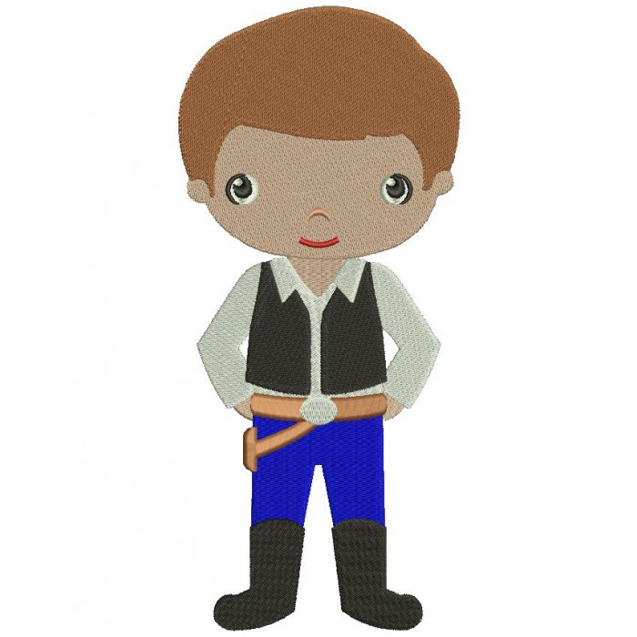 Looks Like Han Solo From Star Wars Filled Machine Embroidery Digitized Design Pattern