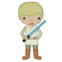 Looks Like Luke Skywalker From Star Wars Applique Machine Embroidery Digitized Design Pattern