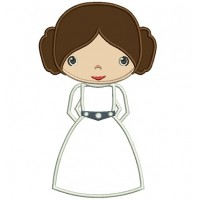 Looks Like Princess Leia Organa From Star Wars Applique Machine Embroidery Digitized Design Pattern