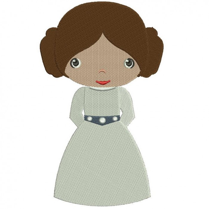 Looks Like Princess Leia Organa From Star Wars Filled Machine Embroidery Digitized Design Pattern