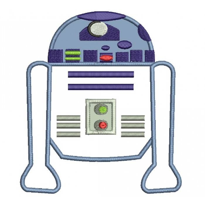 Looks Like R2 D2 From Star Wars Applique Machine Embroidery
