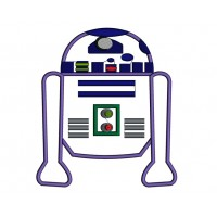 Looks Like R2-D2 From Star Wars Applique Machine Embroidery Digitized Design Pattern