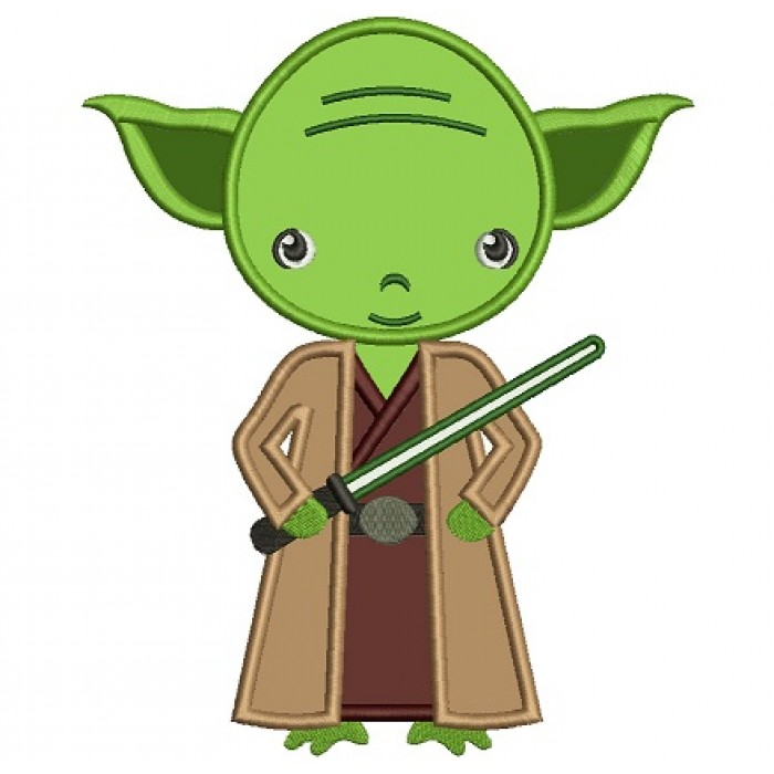 Looks Like Yoda From Star Wars Applique Machine Embroidery Digitized Design Pattern