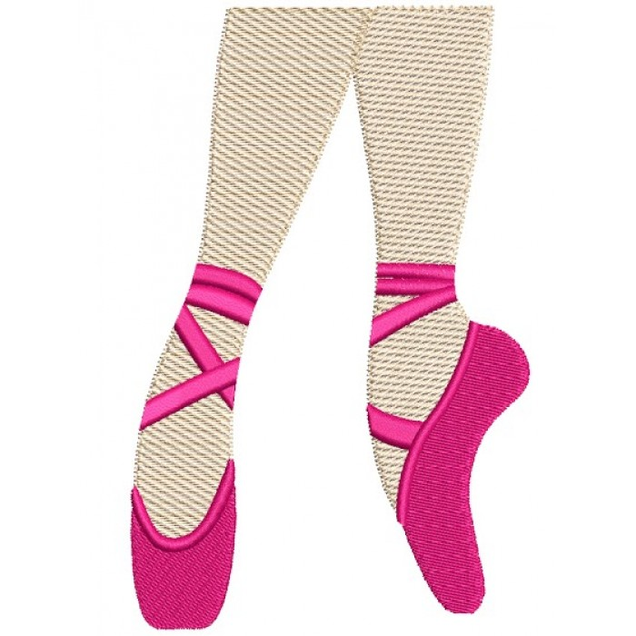 Ballet Shoes Filled Machine Embroidery Digitized Design Pattern