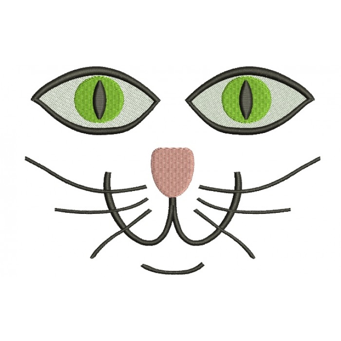 Cat Eyes Filled Machine Embroidery Digitized Design Pattern