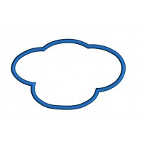 Cloud Applique Machine Embroidery Digitized Design Pattern