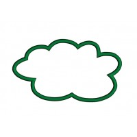 Cloud Callout Applique Machine Embroidery Digitized Design Pattern