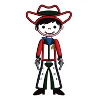 Cowboy With a Big Hat Applique Machine Embroidery Digitized Design Pattern