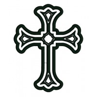 Cross Religious Symbol Applique Machine Embroidery Digitized Design Pattern
