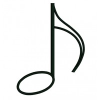 Eighth Note Key Music Applique Machine Embroidery Digitized Design Pattern