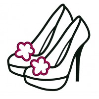 High Heel Stiletto Shoes Applique Machine Embroidery Digitized Design Pattern