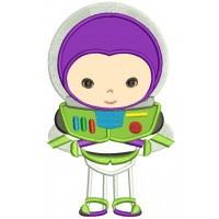 Looks Like Buzz lightyear from Toy Story Applique Machine Embroidery Digitized Design Pattern