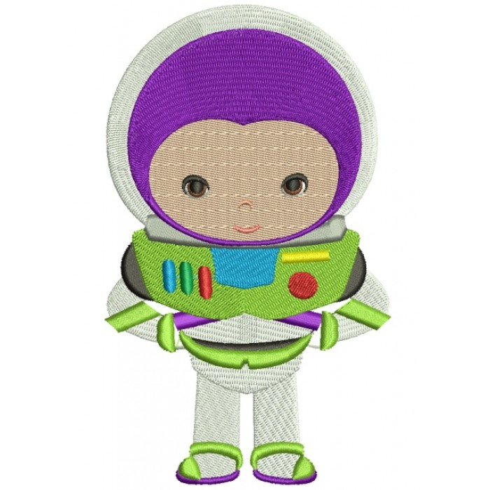 Looks Like Buzz lightyear from Toy Story Filled Machine Embroidery Digitized Design Pattern