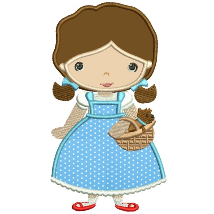 Looks Like Dorothy from Wizard of OZ Applique Machine Embroidery Digitized Design Pattern