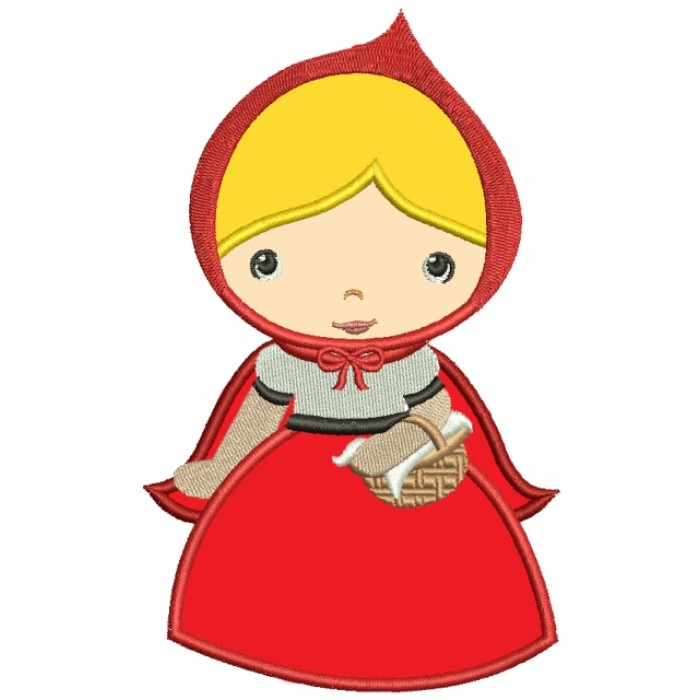Looks Like Red Riding Hood Applique Machine Embroidery Digitized Design Pattern