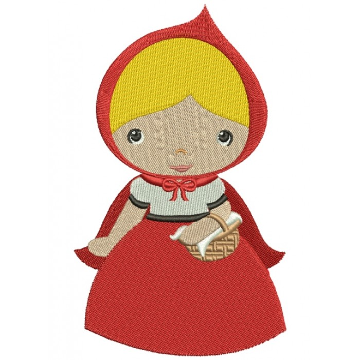 Looks Like Red Riding Hood Filled Machine Embroidery Digitized Design Pattern