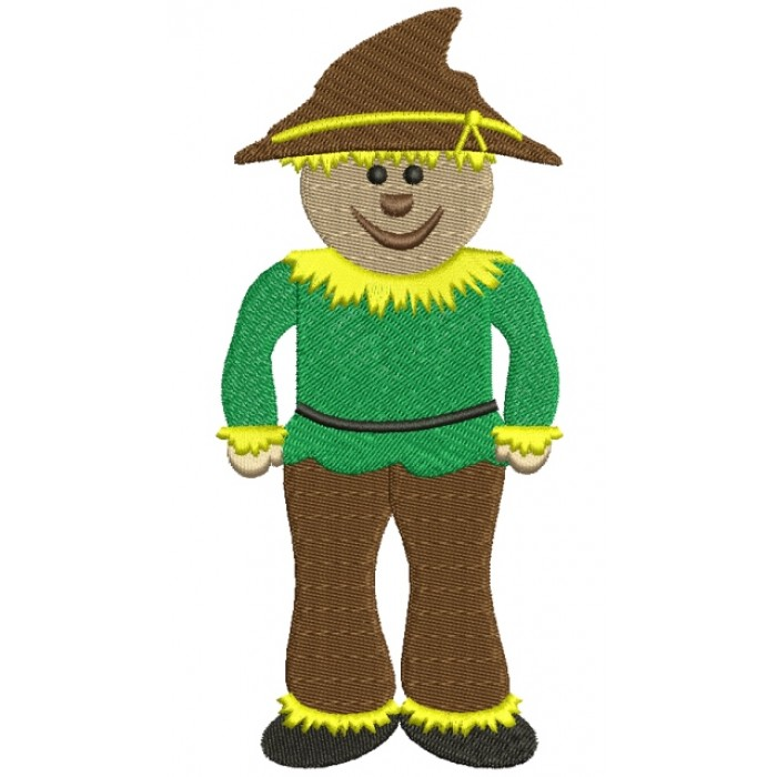Looks Like Scarecrow from Wizard of OZ Filled  Machine Embroidery Digitized Design Pattern