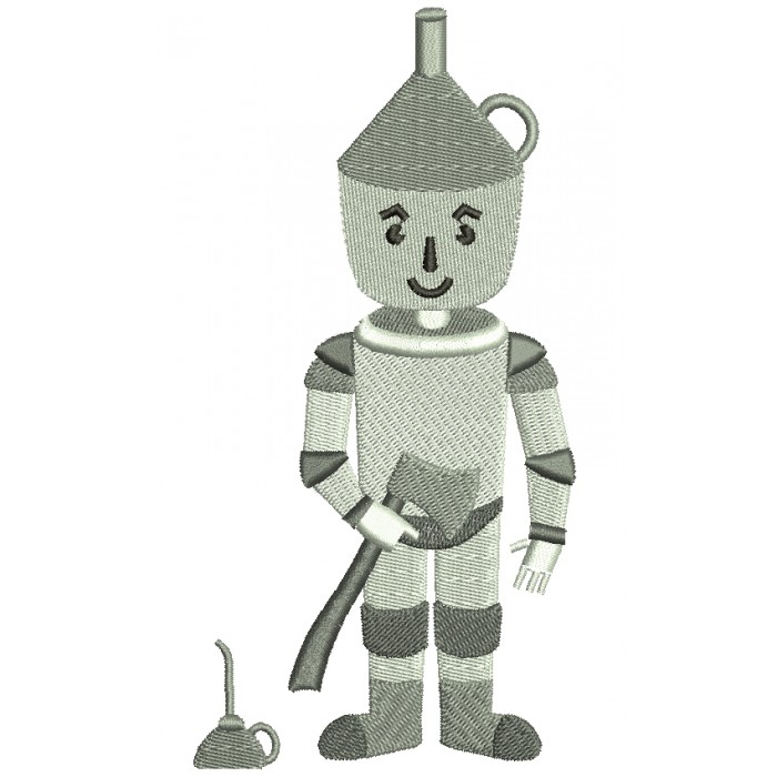 Looks Like Tin Man from Wizard of OZ Filled Machine Embroidery Digitized Design Pattern