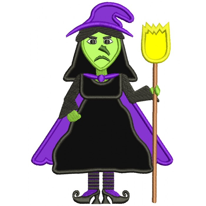 Looks Like Wicked Witch of the West from Wizard of OZ Applique Machine Embroidery Digitized Design Pattern