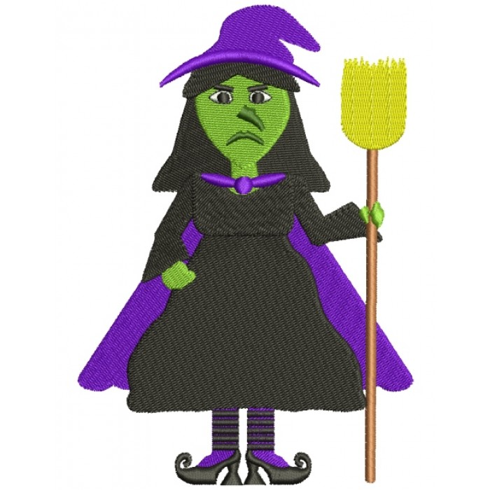 Looks Like Wicked Witch of the West from Wizard of OZ Filled Machine Embroidery Digitized Design Pattern