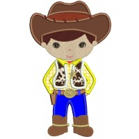 Looks Like Woody From Toy Story Cowboy Applique Machine Embroidery Digitized Design Pattern