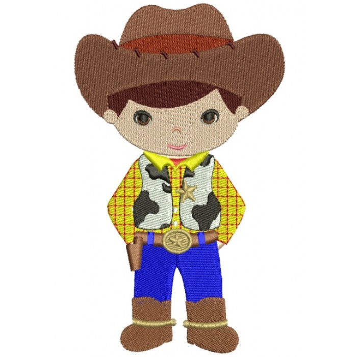 Looks Like Woody From Toy Story Cowboy Filled Machine Embroidery Digitized Design Pattern